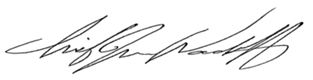Chief Woodruff Signature